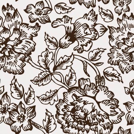 Floral Ink Pattern