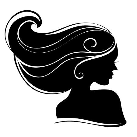 Illustration pour Beautiful woman silhouette - image libre de droit