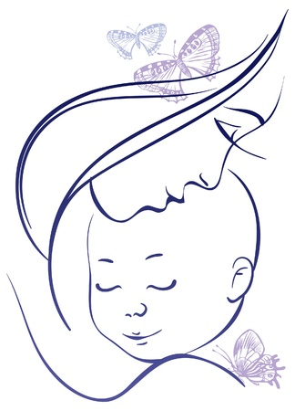 Illustration for Mother and baby - Royalty Free Image
