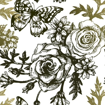 Roses and Butterfly Pattern