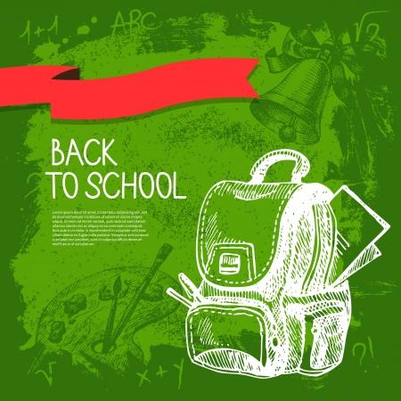 Foto de Back to school vector design. Hand drawn vintage  background - Imagen libre de derechos