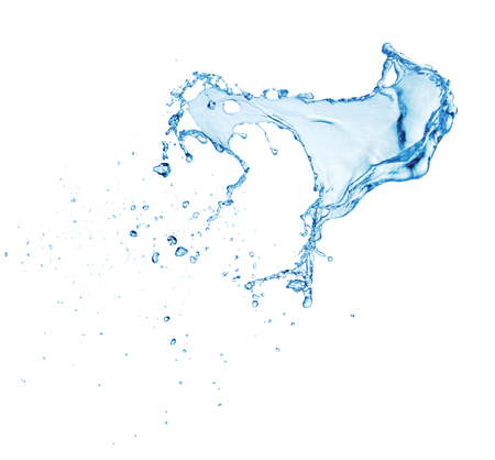 Photo for clean blue water splash isolated on white background - Royalty Free Image