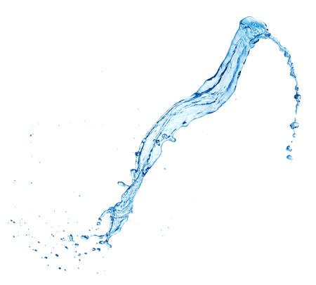 Photo pour clean blue water splash isolated on white background - image libre de droit