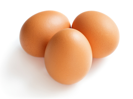 Photo for set of chicken egg isolated on white background - Royalty Free Image