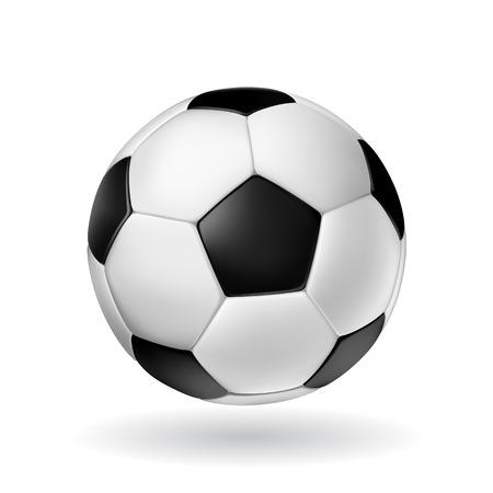 High Detail vector soccer ball.