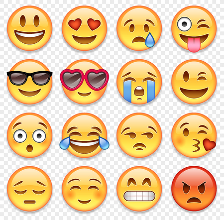 Illustration for Set of high quality vector cartoonish emoticons. - Royalty Free Image