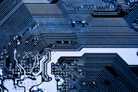 Photo pour Abstract,close up of Circuits Electronic on Mainboard computer Technology background. (logic board,cpu motherboard,Main board,system board,mobo) - image libre de droit
