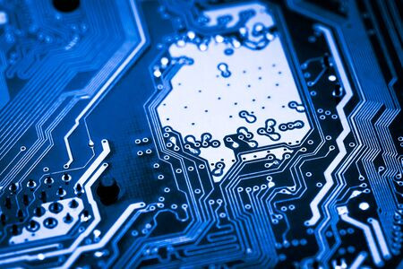 Photo for Abstract, close up of Mainboard Electronic computer background. - Royalty Free Image