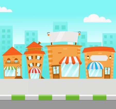 Strip Mall Illustration