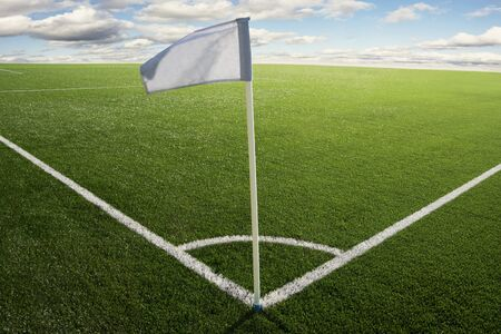 Corner flag on a soccer field