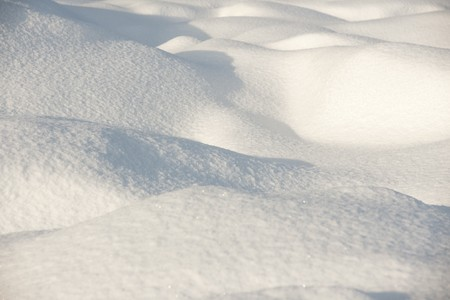 Snow surface in evening light