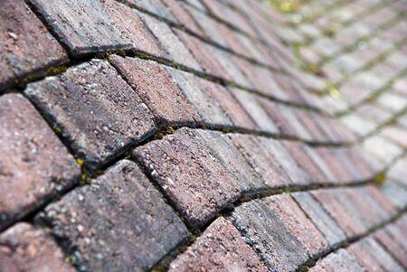 Close up of corner of brick wall