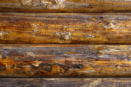 Background of rough rustic timbered wall