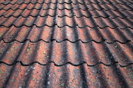 Background with close up of tiles on roof