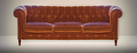 settee in old fashioned style on neutral background
