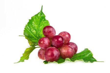 Foto für the red grapes isolated on white background - Lizenzfreies Bild