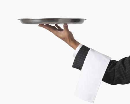 waiter or server isolated on white