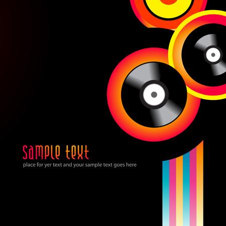 vector music background design illustration