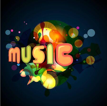 Illustration for stylish music background.  - Royalty Free Image