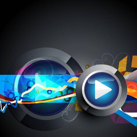 vector abstract music play button artwork