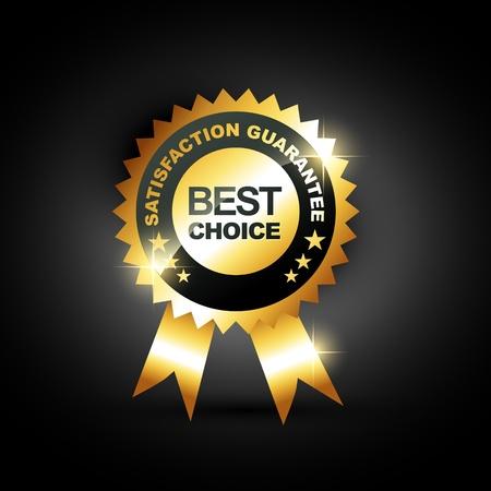 Illustration pour stylish blue best choice label sign - image libre de droit