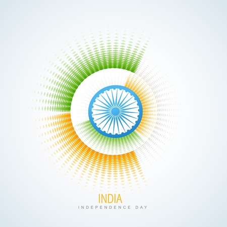 creative style indian flag vector design