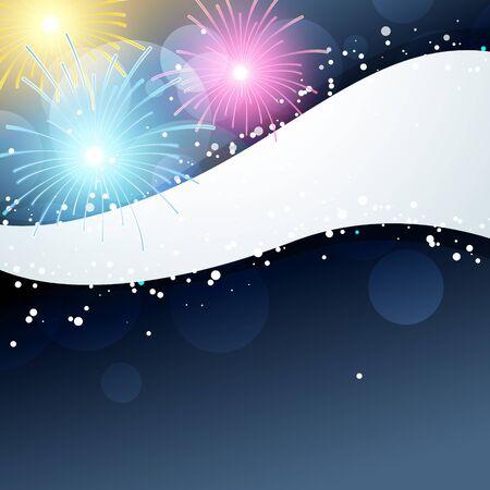 Ilustración de fireworks illustration with space for your text - Imagen libre de derechos