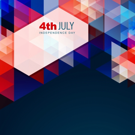 Foto de american independence day vector abstract style design - Imagen libre de derechos