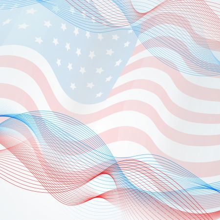 vector flag background with space for your text