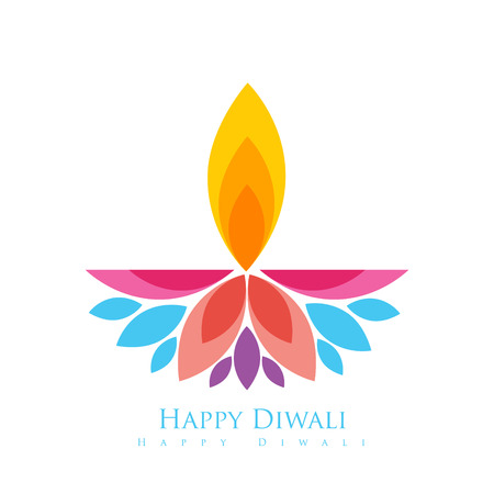 vector colorful happy diwali greeting
