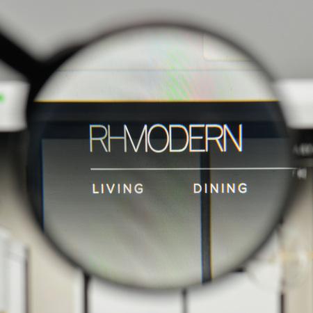 Milan, Italy - November 1, 2017: RH logo on the website homepage.
