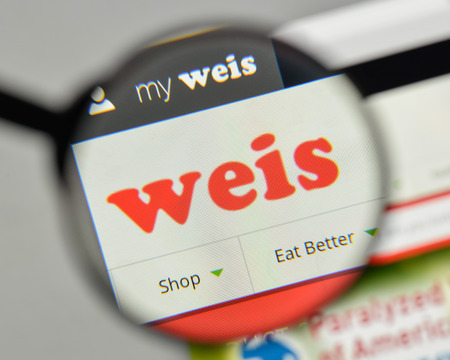 Milan, Italy - November 1, 2017: Weis Markets logo on the website homepage.