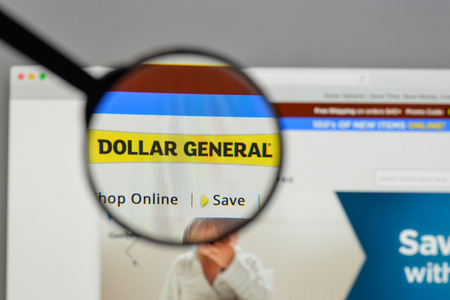 Milan, Italy - August 10, 2017: DollarGeneral logo on the website homepage.
