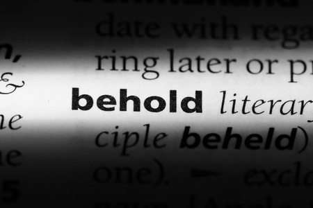 behold word in a dictionary. behold concept.