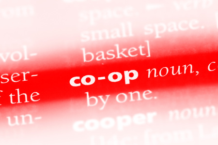 co-op word in a dictionary. co-op concept