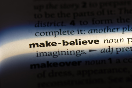 make believe word in a dictionary. make believe concept.