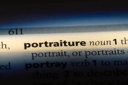 portraiture word in a dictionary. portraiture concept.