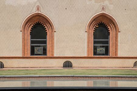Milan, Italy - 30 June 2019: View of Castle of Sforza -  Castello Sforzesco