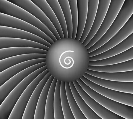 Illustration for Aircraft engine turbine background - Royalty Free Image