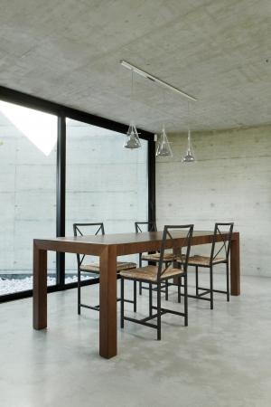 dining room, interior modern house