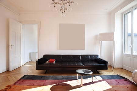 Photo pour Vintage apartment furnished, living room - image libre de droit