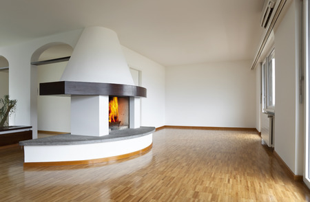 apartment, interior, fire, fireplace