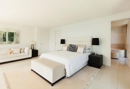 Modern interior design, comfortable bedroom