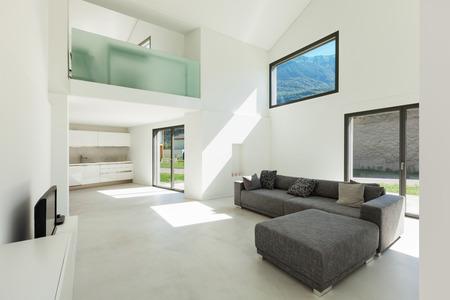 Foto de architecture, interior modern house, living room with sofa - Imagen libre de derechos