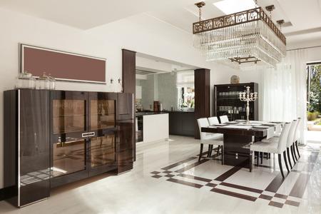 modern house beautiful interiors, dining room