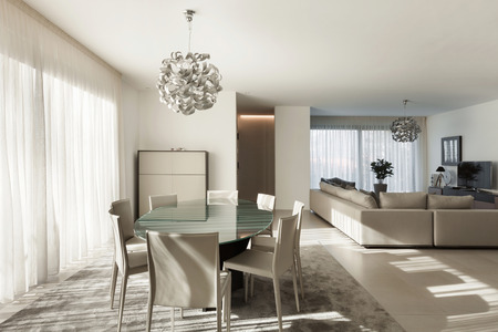 Photo pour Interior of a modern apartment, comfortable living room - image libre de droit