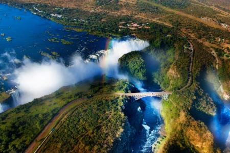 uFFFDVictoria Falls, Zambia and Zimbabwe uFFFD Victoria Falls or Mosi-oa-Tunya is the widest waterfall in the world