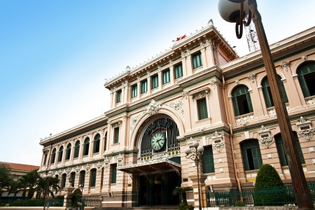 Post Office designed by Gustave Eiffel, Ho Chi Minh City, Vietnam