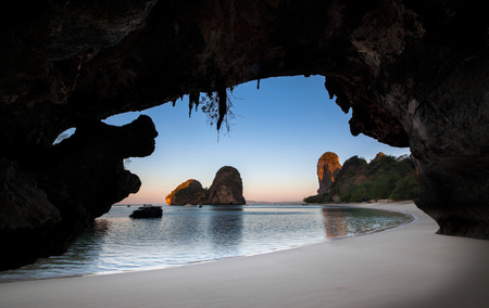 Ao nang  Princess Bay  or Ao Phra Nang or Phra nang is very scenic beach with caves and cliffs
