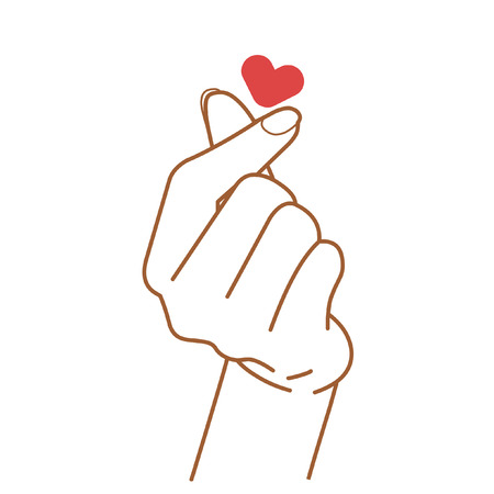 Illustration pour Sign of love. Vector hand drawing illustration - image libre de droit
